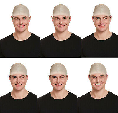 Bulk Latex Fake Bald Head Wig Cap Skinhead Mens Ladies Fancy Dress Halloween lot