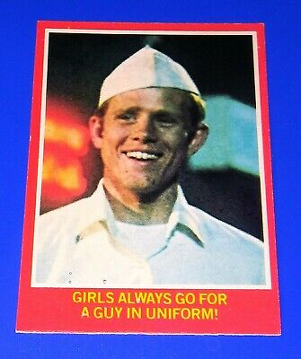 1976 O-Pee-Chee Happy Days Series 2 Card #43A 'A Guy In Uniform!' TV Show