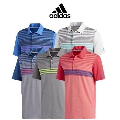 8aaa93d7a ADIDAS 2019 MENS Ultimate 365 3-Stripes Heather Golf Polo Shirt ...