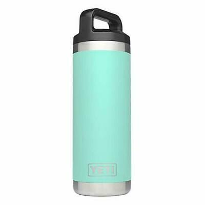 New YETI Rambler 18oz Vacuum Insulated Stainless Steel Bottle with Cap, Seafoam