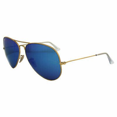 60c363aef5ad6 Ray-Ban Sunglasses Aviator 3025 112 17 Matt Gold Blue Mirror Large 62mm
