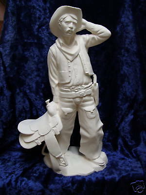 Ready to Paint Ceramic Bisque Cowboy 43+cm Tall