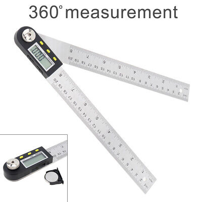 200mm Steel LCD Digital Angle Rule Protractor Angle Ruler Angel Measuring New