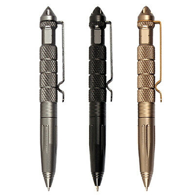 "Self Defense Tactical Pen Survival Glass Breaker Tool 6"" Aviation Aluminum New"