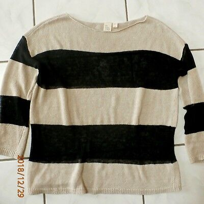 """NWT Eileen FISHER PROJECT /""""Tarnished/"""" Ballet Neck Sweater Charcoal Large $298"""