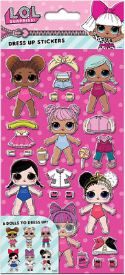 Official L.O.L. Surprise Character Reusable Dress Up Foam Activity Stickers PACK