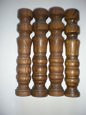 Lot of 8 Vintage Architectural Matching Wood Turned Baluster Spindles 9 x 1 3/4