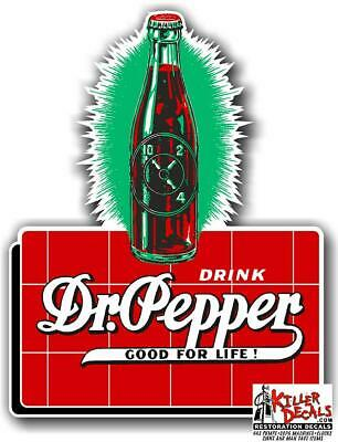 "DP117 15/"" DR PEPPER BOTTLE CAP COOLER POP soda coca cola machine decal"