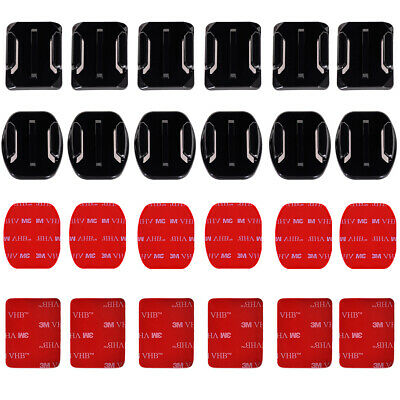12pcs Accessories Flat Boundle Curved Adhesive Mount for Gopro Hero 2 3 3+ OS180