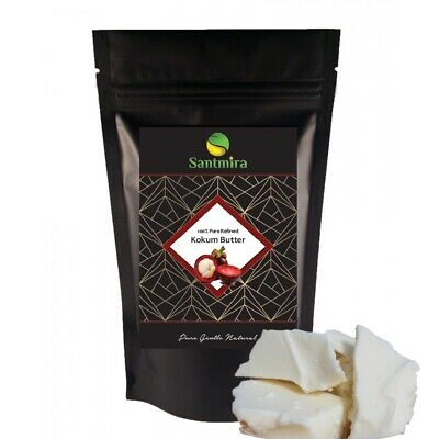 Raw Kokum Butter (Garcinia Indica) Cold Pressed 100% Organic & Pure~ BY SANTMIRA