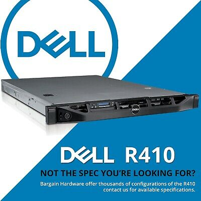 Dell 1U Server R410 Configure Up to, 2x Hex 6-Core 48GB RAM Short PowerEdge Rack