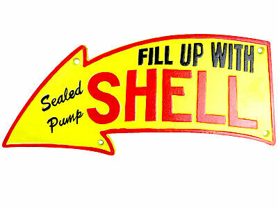 Shell Garage Sign Repro 50s Fill Up With Shell Cast Iron Plaque 40cm