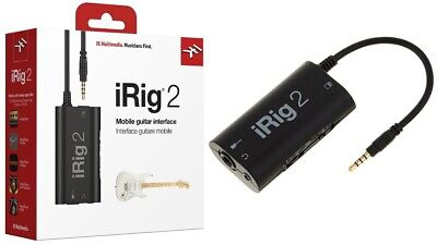 IK Multimedia iRig 2 Guitar Interface Adaptor for iOS, Mac, and Select Androids