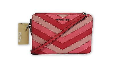 Large Chevron Eastwest Set Kors Michael Jet Leather RAL54c3qSj