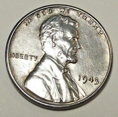 1943 Lincoln Wheat Cent - Zinc Over Steel (Lot Y406)  See Photos!