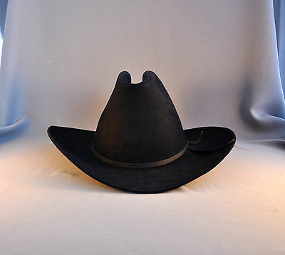 BAILEY 5X COWBOY Hat - Hand Creased - Size 6 7 8 - Black -  59.00 ... 6d79497f491