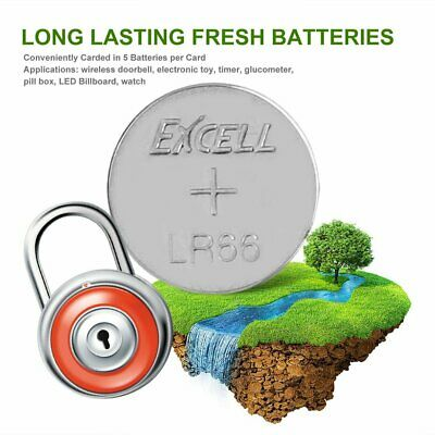 10PCS 1.5V LR66/177/377/AG4 Button Coin Cell Battery for Watch Electronic Toy EC