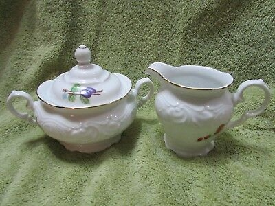 Royal Kent Collection Porcelain Creamer & Sugar Set from Poland