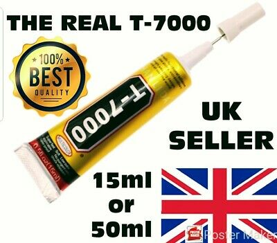 T7000 Contact Adhesive Glue For Craft Mobile Phone Tablet Laptop Black 15/50ML