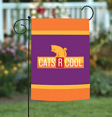 Garden Decor Flag Kitty Cat In Knit Knitted Orange Winter Sweater 11 X15 7 95 Picclick