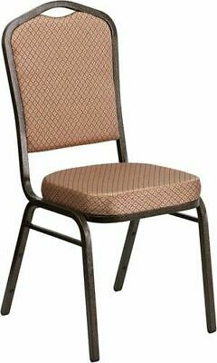 10-PACK-Banquet-Chair-Gold-Diamond-Pattern-Fabric-Restaurant-Chair-Crown-Stack
