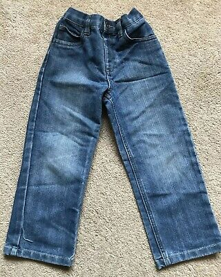 George Straight Leg Jeans Blue Adjustable Waist Age 4-5 Years