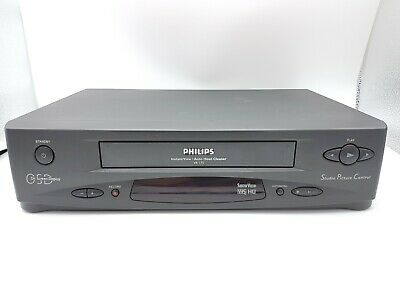 Philips VR175 Videorecorder VHS VCR Videocassette Player Black