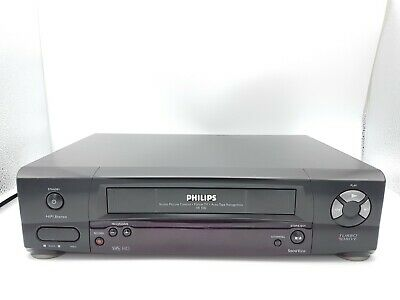 Philips VR500 Videorecorder VHS VCR Videocassette Player Black Color