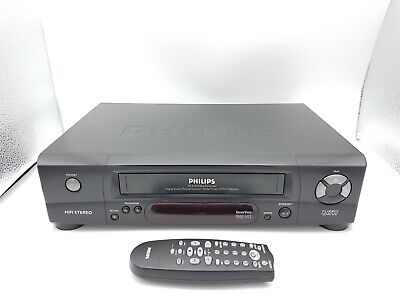 Philips VR 510 Videorecorder VHS VCR Videocassette Black with Remote Control