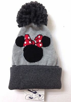 30 Baby Gap Girls MINNIE MOUSE POM BEANIE Plush Gray Disney Winter Knit  Ski Hat 20e86fa33460