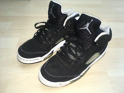 be67eb25e75f Nike Youth Boys Size 7Y US Air Jordan V 5 Retro Oreo Black White 440888-