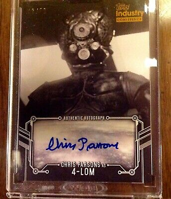 2019 Topps Industry Summit STAR WARS CHRIS PARSONS AUTO 4-LOM /50 Signed