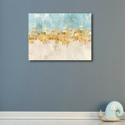 Gradient Abstract Oil Painting Canvas Wall Art Picture 50x40cm Modern Home Decor
