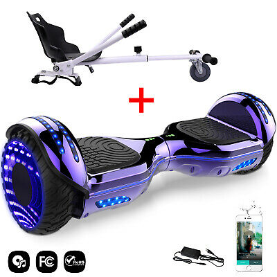 "6.5"" Cool&Fun Pack Hoverboard & Hoverkart Gyropode électrique Smart Scooter LED"