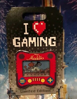 Disney I Heart Gaming Aladdin Pin LE 1500 New In Hand