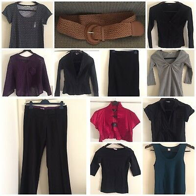 Bulk lot of ladies Clothing, X 12 items size 10 ideal for Work, New & GUC
