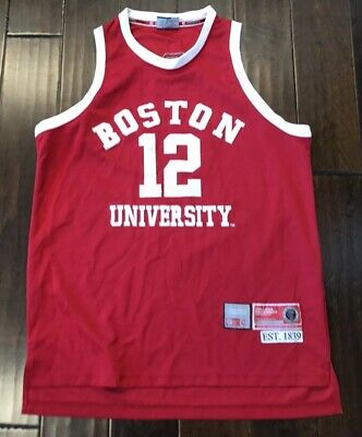 new products 15433 83d00 VINTAGE COLOSSEUM BOSTON University Terriers Throwback Basketball Jersey  Men's L