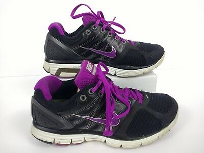 07775f897c8 NIKE LUNARGLIDE WOMENS Size 8.5 Running Shoes Gray Pink Blue ...
