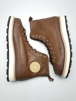 2c8bc68bcc99 Converse CT Crafted Boot HI Men Size 12 Chocolate Leather 162354C Chuck  Taylor