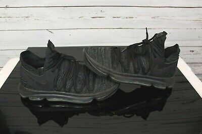 buy popular e0632 05ff7 Men s SZ 9 Nike Zoom KD 10 Triple Black 897815-004 Basketball Shoe Kevin  Durant