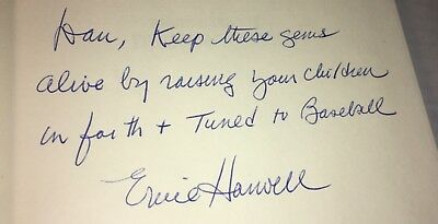 Ernie Harwell Signed Auto Autograph +Pers. Diamond Gems Hcdj Book Detroit Tigers