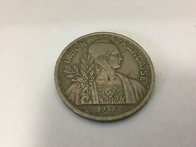 French Indochina 1947 1 Piastre EF