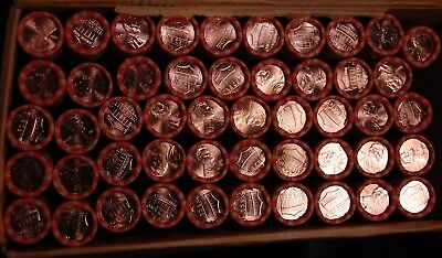 Lot Of (10) Brilliant Uncirculated Bankwrapped Rolls 2012 D Lincoln Shield Cents