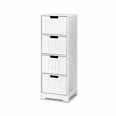 Artiss Storage Cabinet Chest of 4 Drawers Dresser Bedside Table Bathroom Stand