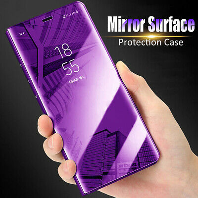 Transparent View Mirror Leather APP Smart Flip Stand Case Cover Fit Huawei Honor