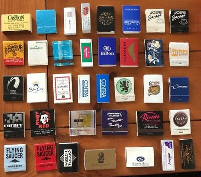 Collectable Match Boxes / Match Books - 47 in total (33 different)