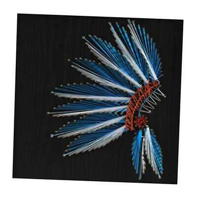 Feather Nail String Art Kit for Kids Adult Craft Wooden Winding Nail Picture