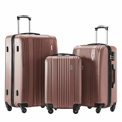 a60436f40 Luggage Set 3 Piece Suitcase set Spinner Hard shell Lightweight 20''/ 24'