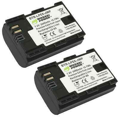 Wasabi Power Battery (2 Pack) for Canon LP-E6, LP-E6N Replacement