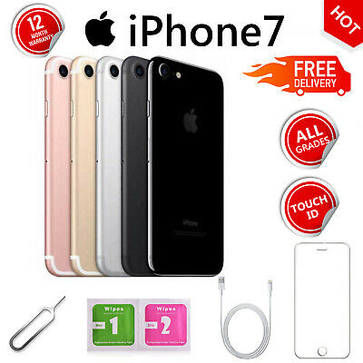 Apple iPhone 7 32GB 128GB 256GB Unlocked SIM Free Various Colours LTE Smartphone